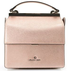 Celine Dion Collection leather top handle bag